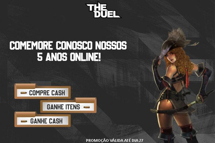 Promoção de Cash: 5 anos de The Duel Brasil